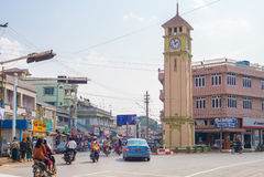 Vue de rue de Pyin Oo Lwin Photographie stock libre de droits