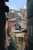 Vue de rue de Sienne Photos stock