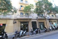 Vue de rue de ville de Barcelone Images stock