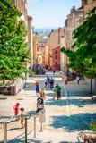 Vue de rue de ville de Lyon Photo stock