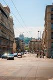 Vue de rue de ville de Lyon Image libre de droits