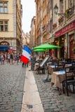 Vue de rue de ville de Lyon Photos stock