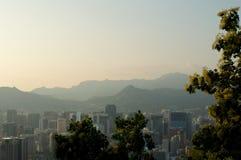 Vue de rue de ville de Séoul à partir de dessus en été images stock