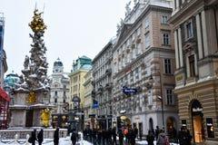 Vue de rue Graben Strasse de Graben Photographie stock