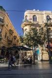 Vue de rue de Jaffa, Jérusalem photo stock