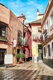 Vue de rue de Séville Photos libres de droits
