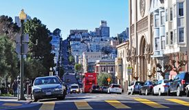 Vue de rue--SF Photo libre de droits