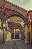 Vue de rue, Sibiu, Roumanie Images stock
