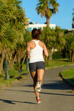 Vue de running back d'athlète féminin photo libre de droits