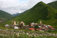 Village d'Ushguli Photo stock