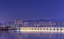 Vue de Séoul Corée du Sud la nuit Photos stock