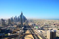 Vue de s-oeil de ` d'oiseau de Dubaï Photos stock