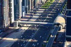 Vue de s-oeil de ` d'oiseau de Dubaï Images stock
