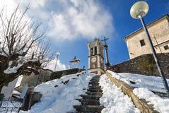 Vue de Sacro Monte di Varese, patrimoine mondial de l'UNESCO images libres de droits