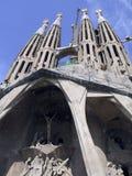 Vue de Sagrada Familia Images libres de droits