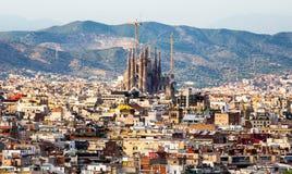 Vue de Sagrada Familia Image libre de droits