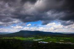 Vue de saison des pluies des montagnes du clou Doi Suthep 2, KH Photos stock