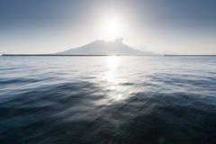 Vue de Sakurajima d'horizontal de photo stock