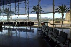 Vue de salle d'attente d'aéroport de Barcelone Images libres de droits