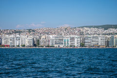 Vue de Salonique Grèce de la mer Photographie stock
