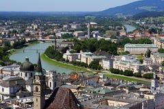 Vue de Salzbourg images libres de droits