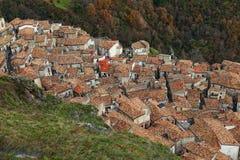 Vue de San Donato di ninea de ci-avant photos libres de droits