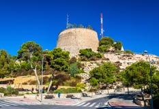 Vue de San Fernando Castle dans Alicante, Espagne Photographie stock