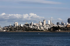 Vue de San Francisco City From Bay Photographie stock