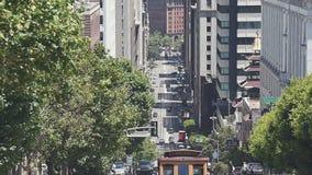 Vue de San Francisco de Nob Hill banque de vidéos