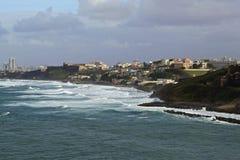 Vue de San Juan du bateau de croisière, Porto Rico Photographie stock libre de droits