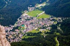 Vue de San Martino di Castrozza en Italie Photo stock