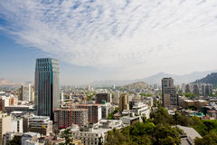 Vue de Santiago Images libres de droits
