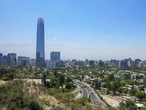 Vue de Santiago, Chili Image libre de droits