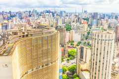 Vue de Sao Paulo Photographie stock libre de droits