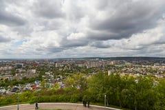 Vue de Saratov d'une plate-forme d'observation Images libres de droits