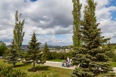 Vue de Saratov d'une plate-forme d'observation Photo libre de droits