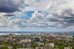 Vue de Saratov d'une plate-forme d'observation Photos libres de droits