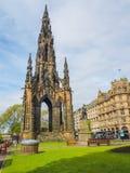 Vue de Scott Monument - un monument gothique victorien auteur à Sir Walter Scott écossais à Edimbourg, Ecosse, R-U photographie stock
