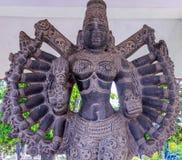 Vue de sculpture indienne antique en femmes, Chennai, Tamilnadu, Inde 29 janvier 2017 Image libre de droits