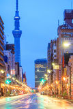 Vue de secteur d'Asakusa à Tokyo, Japon Photo stock