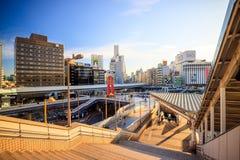 Vue de secteur d'Ueno de la station de train d'Ueno Images libres de droits