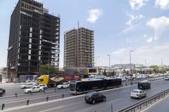 Vue de secteur de Yenibosna d'Istanbul Photo libre de droits