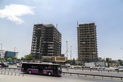 Vue de secteur de Yenibosna d'Istanbul Image stock