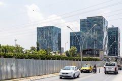 Vue de secteur de Yenibosna d'Istanbul Photos stock