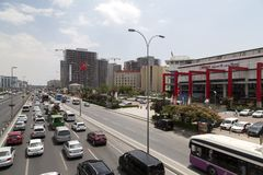 Vue de secteur de Yenibosna d'Istanbul Photographie stock