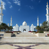 Vue de Sheikh Zayed Grand Mosque Photo libre de droits