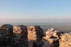 Vue de Signagi sur Caucase Image libre de droits