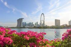 Vue de Singapour central Photos stock