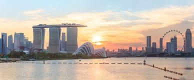 Vue de Singapour central Image stock