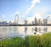 Vue de Singapour central Image libre de droits